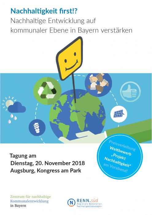 f163461ce43c1 Nachhaltigkeit first!? Nachhaltige Entwicklung auf kommunaler Ebene  verstärken. Tagung am 20.11.18 in Augsburg